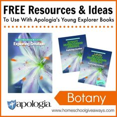 Free Resources and Ideas to Use with Apologia's Young Explorer Books - Botany