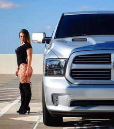 These Girls Love Diesel Trucks. Chevy Pickup Trucks, Dodge Trucks, Diesel Trucks, N Girls, These Girls, Sexy Cars, Hot Cars, Trucks And Girls, Big Rig Trucks