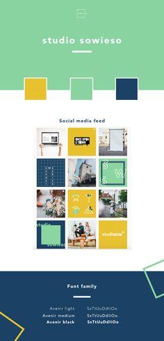 Brand Identity - Branding - Huisstijl voor Studio Sowieso Studio, Identity Branding, Font Family, Social Media, Social Networks, Branding, Study, Social Media Tips, Brand Identity Design