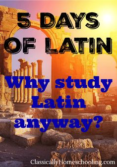 Latin?! It seems intimidating, but with these tips, learning Latin with your kids is a breeze!