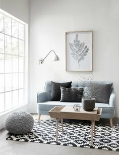 scandinavian style living room by Hubsch// Love this color pallet! So beautiful! #gray