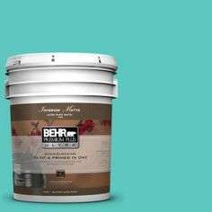 BEHR Premium Plus Ultra 5-gal. #490B-4 Sea Life Flat/Matte Interior Paint-175405 at The Home Depot