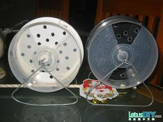 DIY CD Case Hamster Wheel - PetDIYs.com