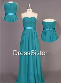 Bridesmaid Dress  Long Bridesmaid Dress / Green by DressSister, $99.99