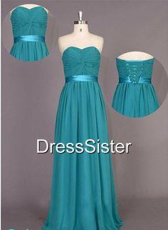 Bridesmaid Dress  Long Bridesmaid Dress / Green by DressSister, $99.99