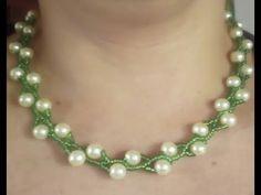Como hacer un Collar Fácil De perlas y Mostacilla - YouTube