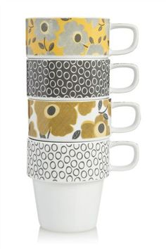 Buy Set Of 4 Daisy Stacking Mugs from the Next UK online shop