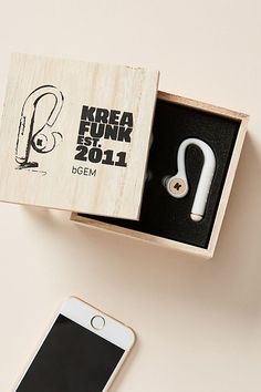 Kreafunk bGEM Wireless Headphones by in White Size: All, Tech Essentials at Anthropologie Mobile Technology, Medical Technology, Energy Technology, Computer Robot, Wireless In Ear Headphones, Phone Gadgets, New Mobile, Nanotechnology, Unique Christmas Gifts