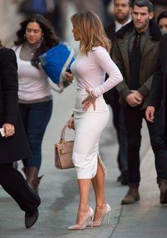 Jennifer Lopez at 'Jimmy Kimmel Live' - Celebrity Fashion Trends