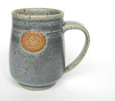 Sheep mug in faded jeans blue by ClaymatesPottery on Etsy, $26.00