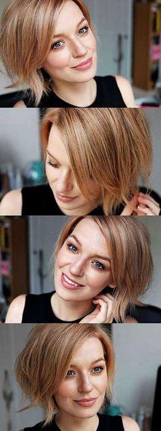 Rose Gold Bob Hair