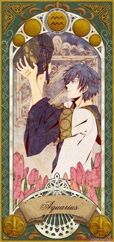 Aquarius the Water-bearer Anime Zodiac, Zodiac Art, 12 Zodiac, Zodiac Horoscope, Zodiac Signs, Aquarius Art, Capricorn And Aquarius, Estilo Anime, Awesome Anime