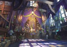 Pixiv fantasia wallpaper and background image Environment Concept Art, Environment Design, Fantasy Places, Fantasy World, Fantasy Kunst, Fantasy Art, Fantasy Rooms, Final Fantasy, Pixiv Fantasia