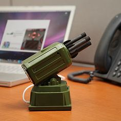 USB Mini Rocket Launcher. Direct it at people who read your screen over your shoulder.