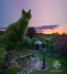 Art-Monie The Topiary Cat by, Richard Saunders.