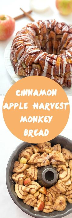 Cinnamon Apple Harvest Monkey Bread - So delicious and easy, made with a secret ingredient, that makes it so much easier! It's finger-licking addicting! Can be made with only 5 ingredients! #warmtraditions #ad