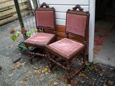 Antique Castle chairs. They're for sale, EUR50, Capelle aan den IJssel, Netherlands. *IF* I don't decide to keep them for myself after all :)