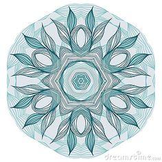 Mandala floreale blu