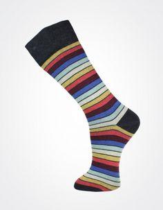 Effio X Effio Bloom of Life - Nicety no.708 #Men #Fashion #Socks #Stripes #Red