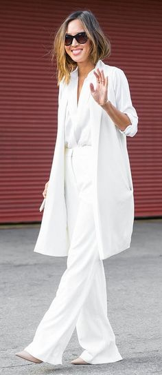 A Crisp White Slouchy Suit