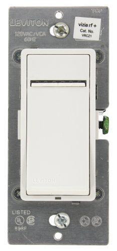 Leviton VRCZ11LZ Vizia RF  1Button Zone Dimming ControllerVirtual Dimming Remote Switch WhiteIvoryLight Almond