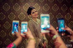 Photographer - The Selfie Click! Photos, Hindu Culture, Beige Color, Bridal Makeup, Sangeet Makeup, Mangtika pictures, images, vendor credits - Bianca, WeddingPlz