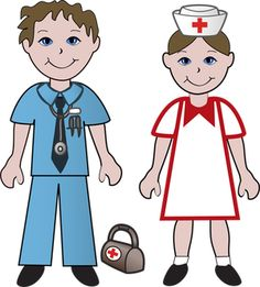 Free Clip Art Of Doctors and Nurses: Doctor and Nurse