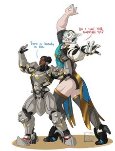 Overwatch Outfit-Swap: Symmetra and Reinhardt [Submission by @drunken-pilot ]…