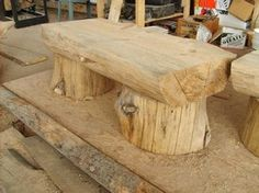 images of log benches - Google Search