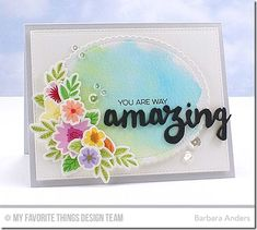 Amazing, Mini Modern Blooms, Blueprints 20 Die-namics, Doubly Amazing Die-namics, Mini Modern Blooms Die-namics, Stitched Mini Scallop Oval STAX Die-namics - Barbara Anders #mftstamps