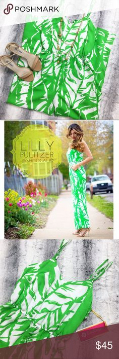"""Lilly Pulitzer • Green Palm Jumpsuit Selling the Lilly Pulitzer for Target """"Green Palm"""" jumpsuit!! Very cute jumpsuit, perfect for summertime and makes for an easy cute outfit! Brand new, with tags attached!! 💋 Lilly Pulitzer for Target Pants Jumpsuits & Rompers"""