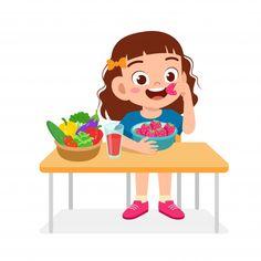 Art Drawings For Kids, Drawing For Kids, Art For Kids, Cartoon Kids, Cute Cartoon, Artsy Background, Healthy Eating For Kids, Eat Healthy, Cute Clipart
