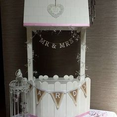 Wishing well hire wedding events parties card secure post box 4ft tall  £25 hire fee Cambridgeshire based wooden