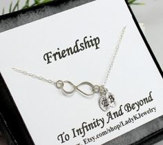 Infinity Bracelet - Best Friend Bracelet Sterling Silver Initial Bracelet Best Friends Personalized Jewelry Christmas Friendship Gift Card on Etsy, $27.85