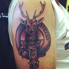 Gordon crest tattoo placement