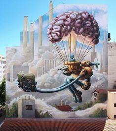 @ juanjosurace Wand in Vinaros, Spanien Graffiti Art, Urban Graffiti, Mural Art, Wall Murals, Art Du Monde, World Street, Urbane Kunst, Amazing Street Art, Street Artists