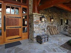 Love the door, timber frame and stone work