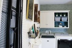 Remodelaholic | How to Hang Pegboard for PERFECT Laundry Room Storage