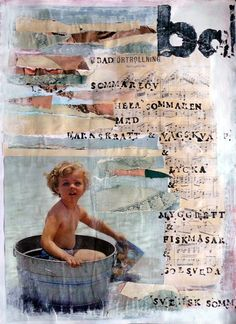 summer collage,bath,