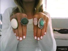 love the big bling! I really like the pink rock one.