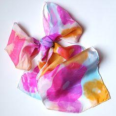 Art with Kids: Dye a Silk Scarf