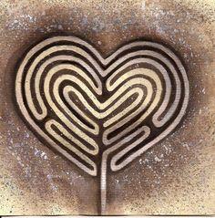 Heart labyrinth artwork by Juniper https://www.facebook.com/juniperartworks
