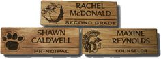 Custom Magnetic Name Badges, lasered, custom design