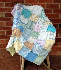 pretty pastel rag #quilt