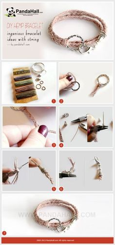 Today's bracelet ideas with string are mainly for the friendship fancier. This diy hemp bracelet pattern is a great starting point for those who wanna make a pure twine bracelet without any beads.