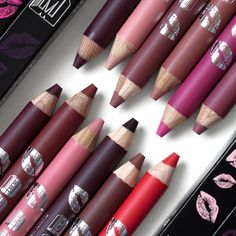Buxom Plumpline lip liners, review and swatches