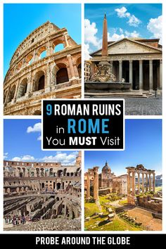 Rome, the capital of Italy is full of Roman Ruins. But which ones are the best and worth your time? I share my 9 favorite Roman ruins in Rome. Discover the history of Rome through her ruins and have an epic experience #romanruins #rome #italyruins #italianruins