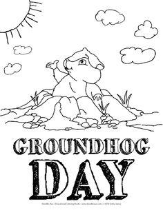 Groundhog Day coloring sheet!!!!
