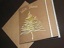 Vianočná pohľadnica_natural II. / Chlpacik - SAShE.sk - Handmade Papiernictvo