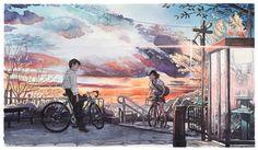 """""""Bicycle Boy"""" fantastiche illustrazioni ispirate allo Studio Ghibli"""